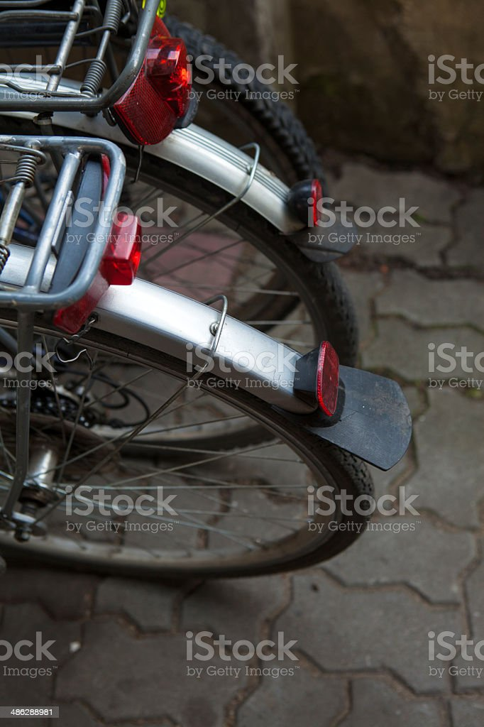View of bikes, rear royalty-free stock photo
