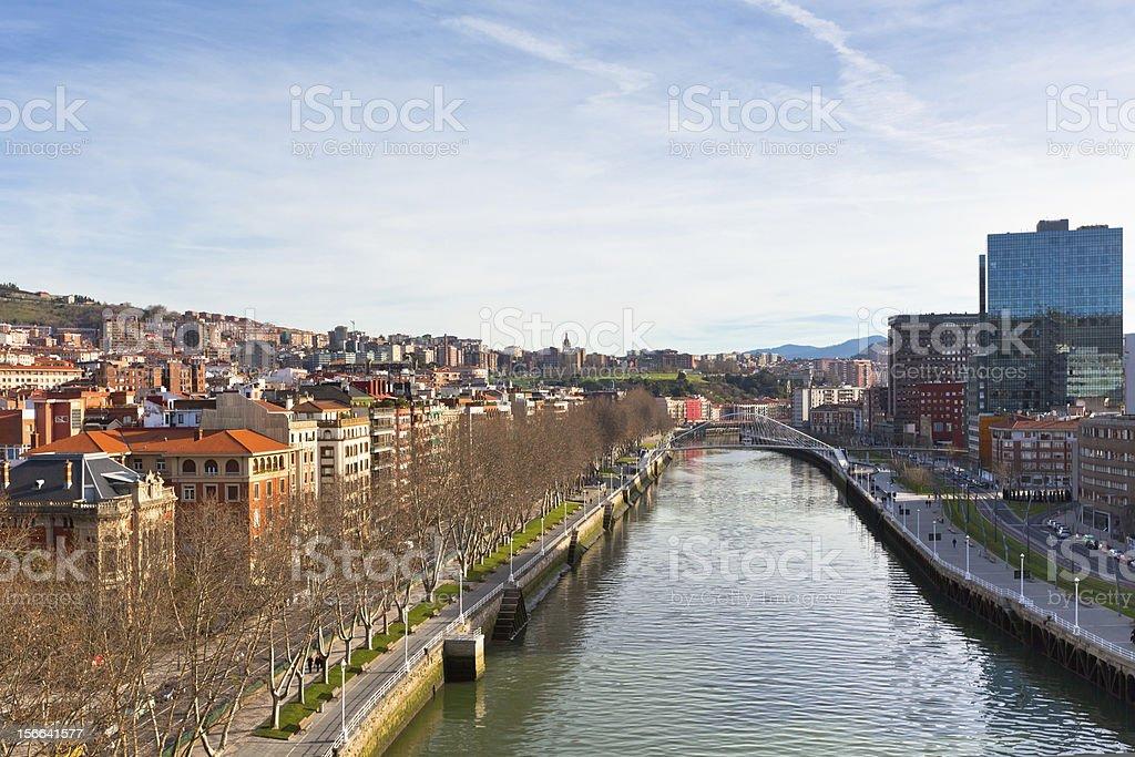 View of Bilbao, Vizcaya, Spain stock photo