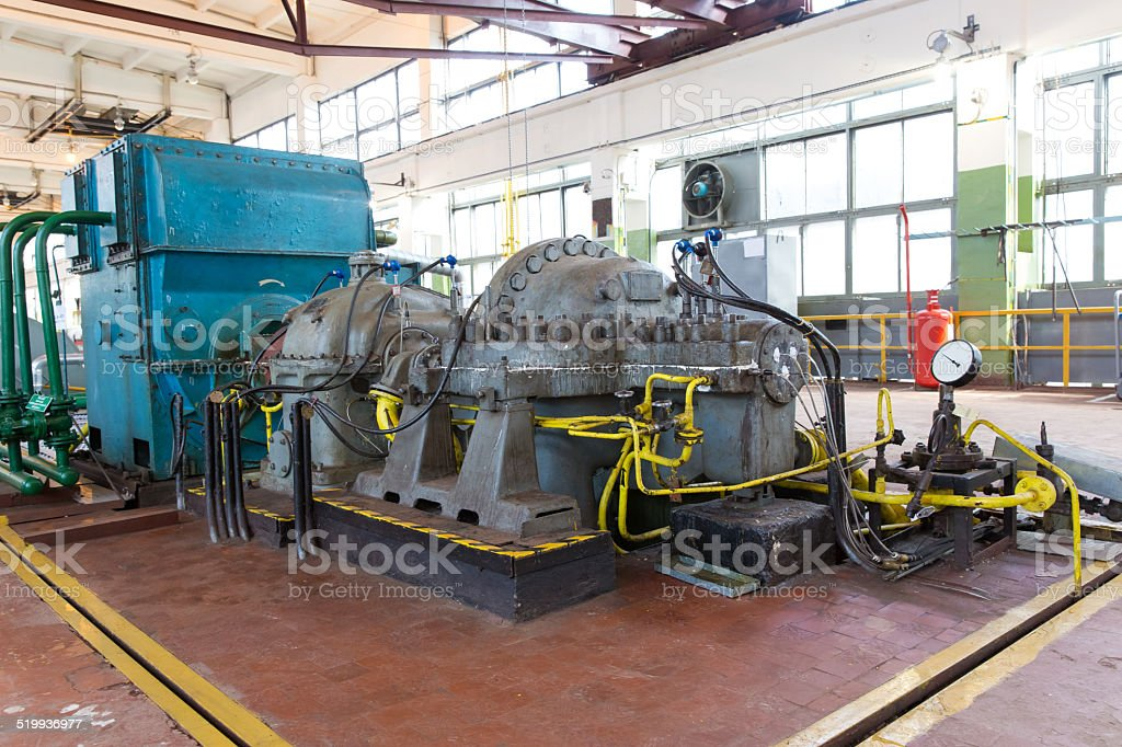 view of  blower and turbine shop stock photo