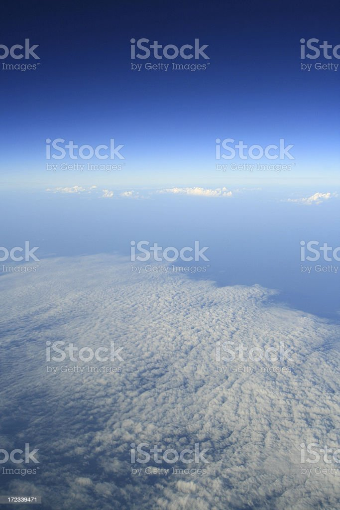 view of blue sky above the clouds royalty-free stock photo