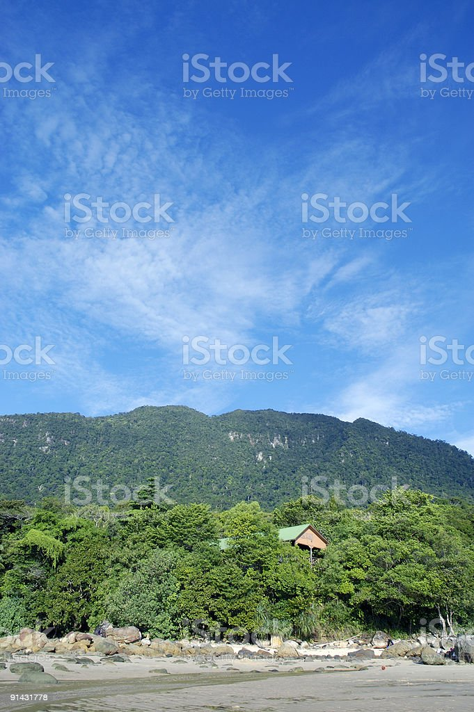 View of blue sky and mountain stock photo