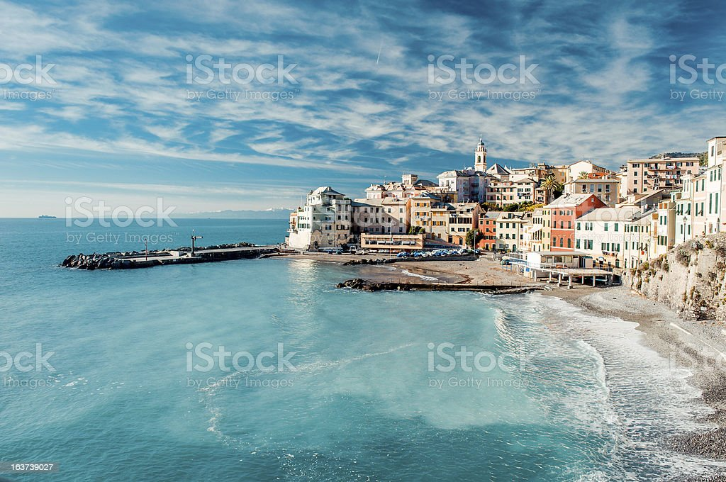 View of Bogliasco, Italy stock photo