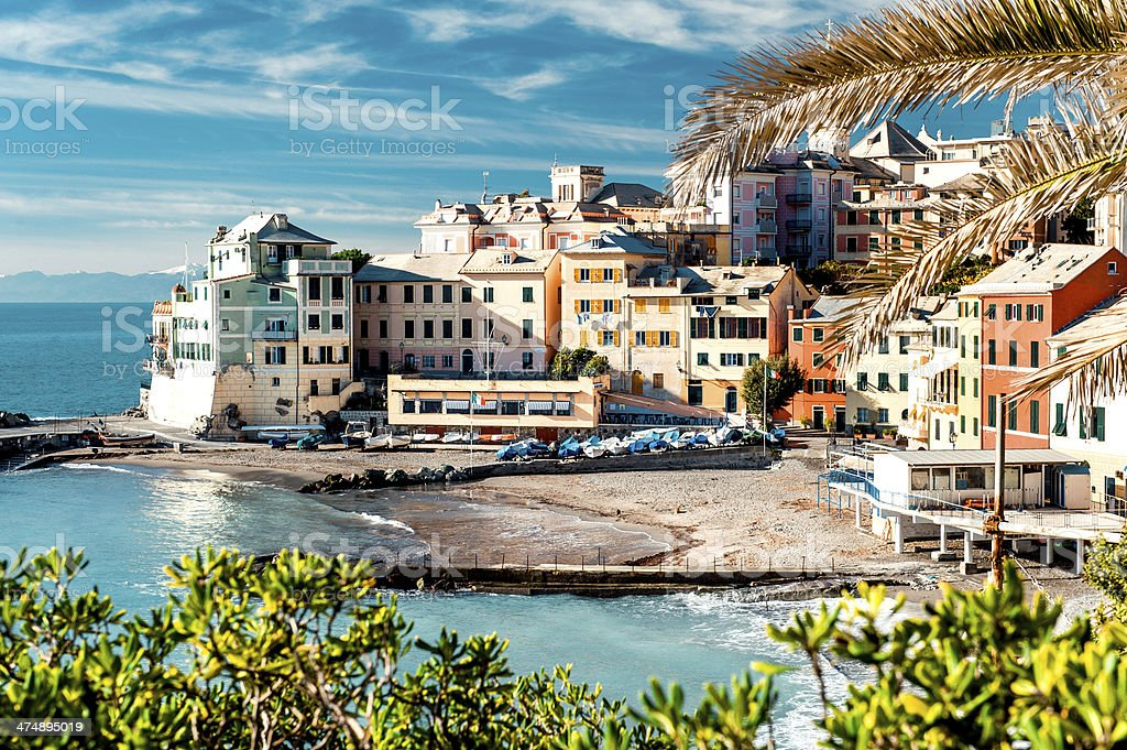 View of Bogliasco stock photo