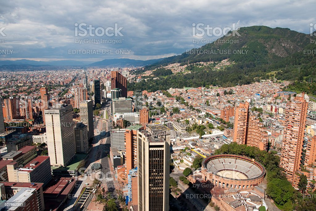 View of Bogota center, Colombia stock photo
