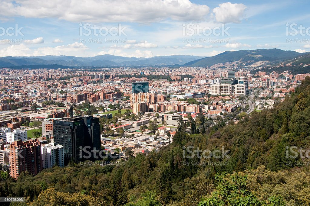View of Bogota, Colombia stock photo