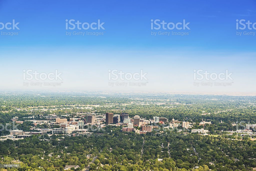 View of Boise, Idaho royalty-free stock photo
