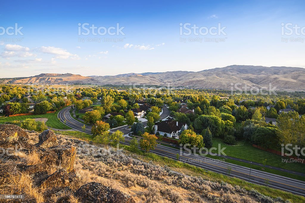 View of Boise, Idaho stock photo