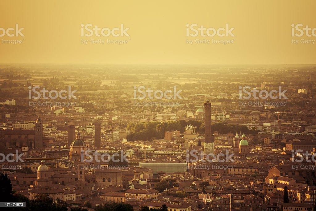 View of Bologna, Emilia Romagna, Italy stock photo
