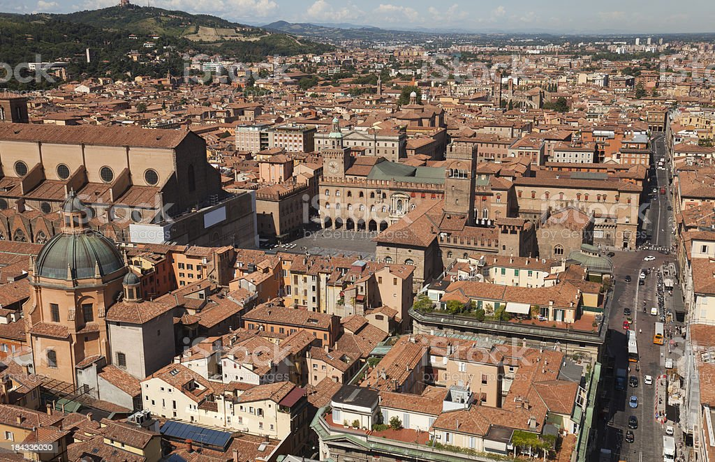 View of Bologna stock photo