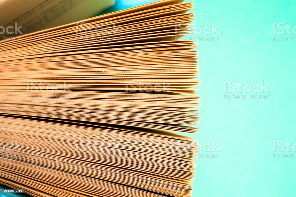 View of book pages stock photo