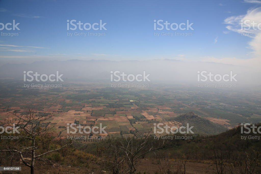 View of border between Tamil nadu and Kerala state, India stock photo