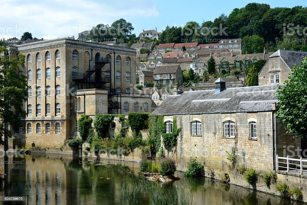 View of Bradford-on-Avon, Wiltshire, UK stock photo