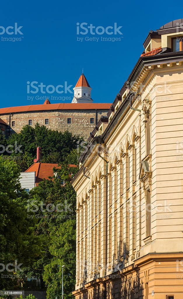 View of Bratistava Castle and Performing Arts Academy royalty-free stock photo