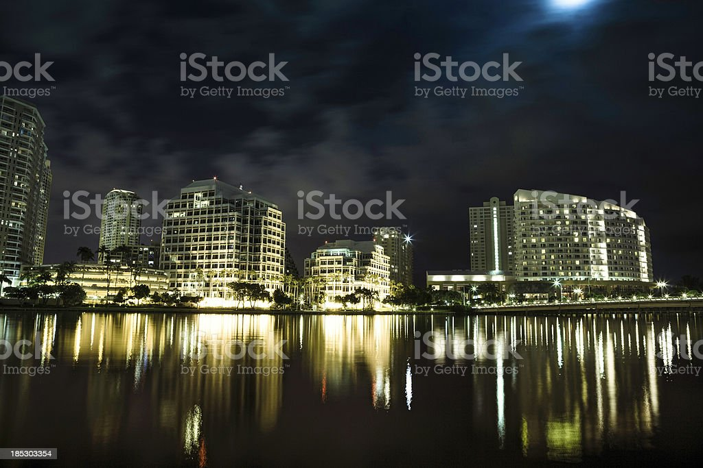 View of brickell key in Miami stock photo