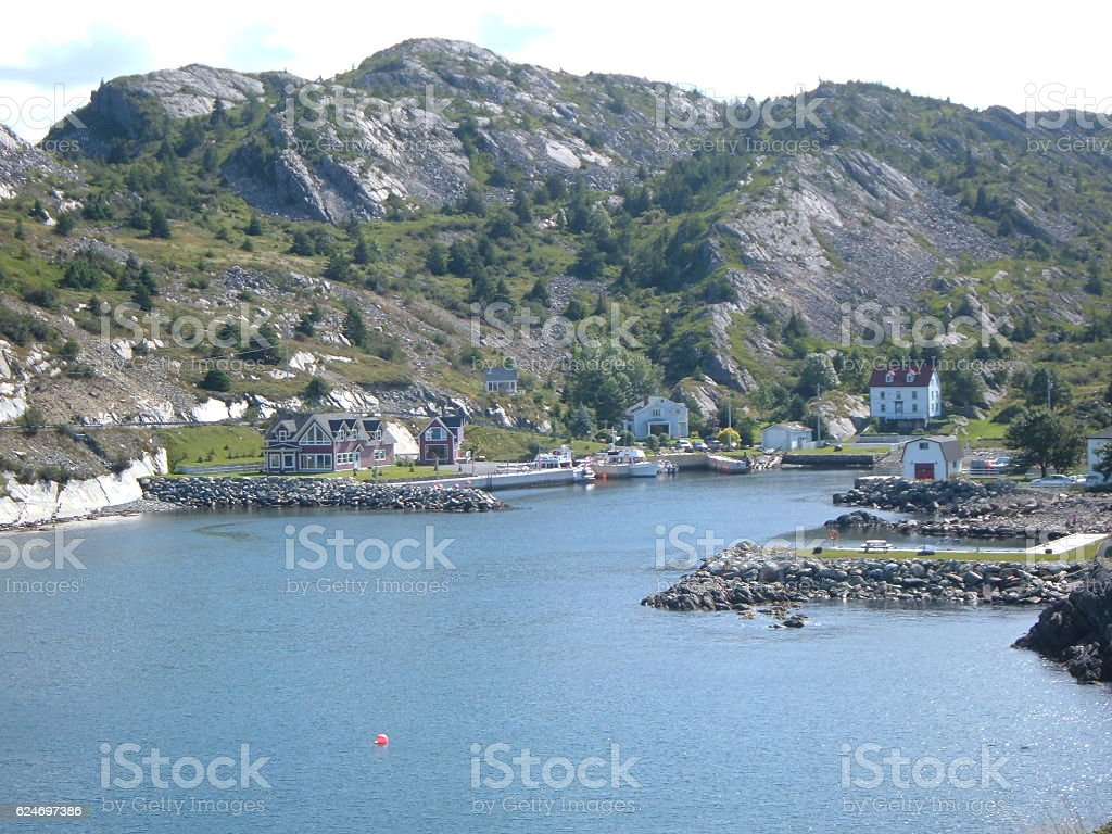 View of Brigus, Newfoundland stock photo
