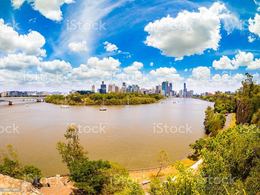 View of Brisbane River stock photo
