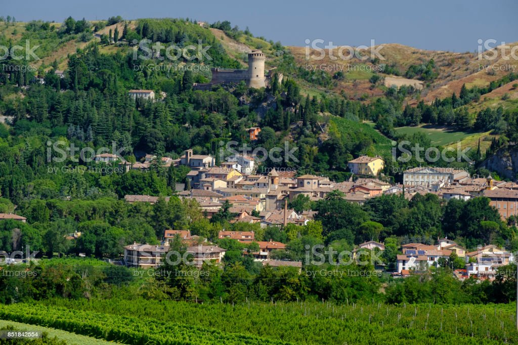 View of Brisighella (Romagna, Italy) stock photo