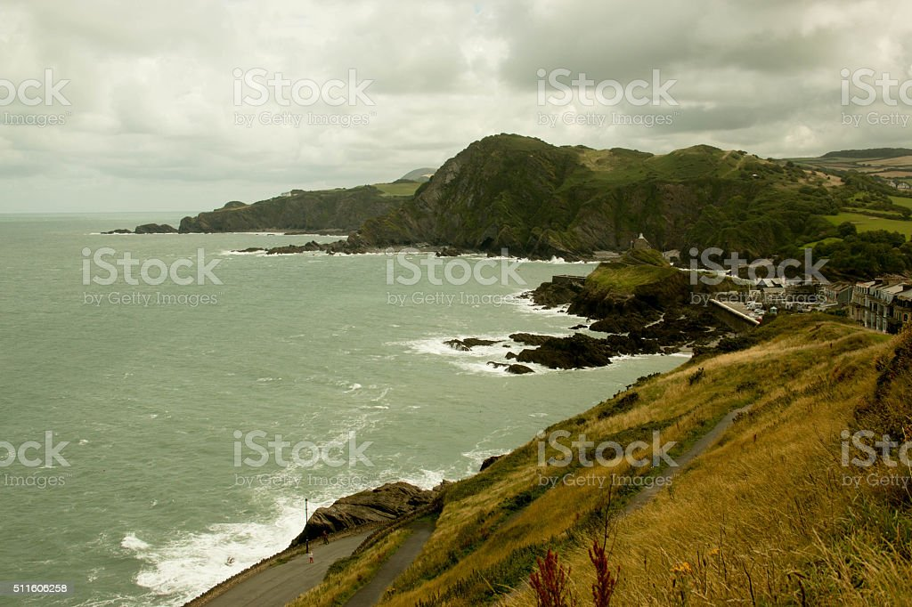 View of Bristol Channel from Ilfracombe stock photo
