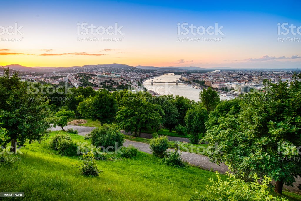 View of Budapest city from above stock photo