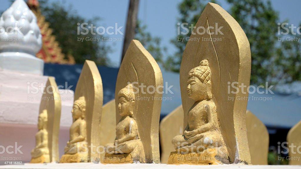 Vista de la estatua de Buda en Tailandia foto de stock libre de derechos