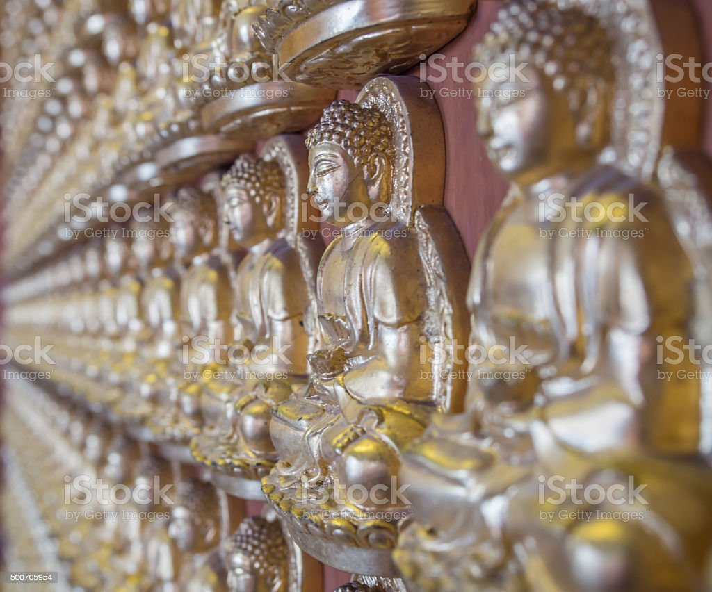 View of buddha statue in Thailand. stock photo
