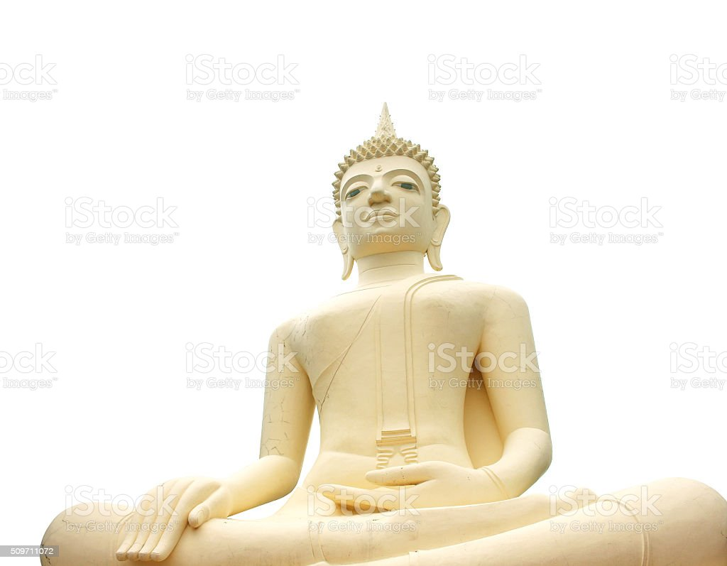 View of buddha statue in Thailand stock photo