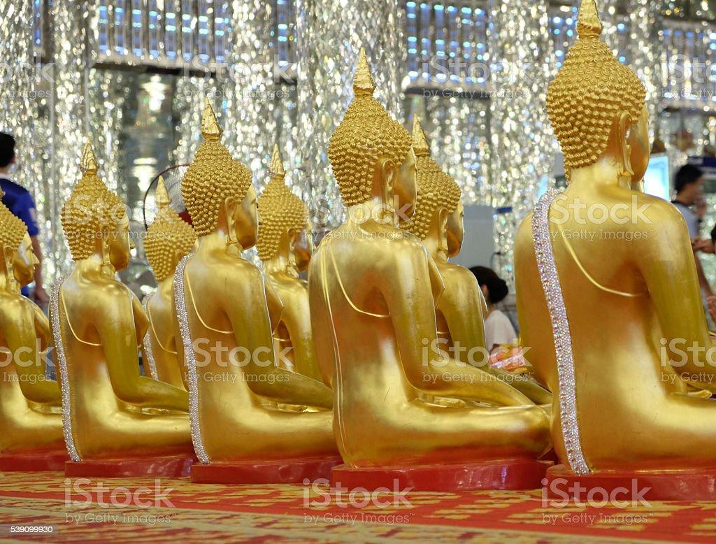 View of buddha statue stock photo