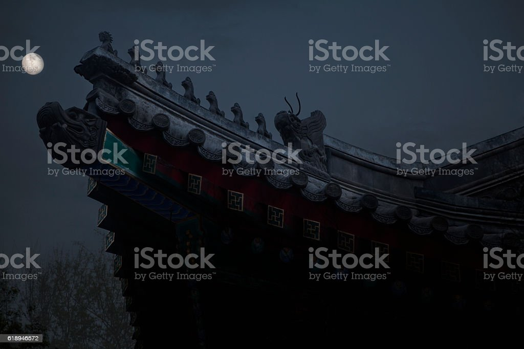 View of Buddhist Temple stock photo