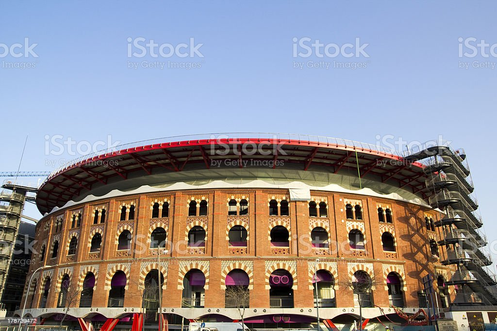 View of Bullring Arenas. Barcelona, Catalonia, Spain royalty-free stock photo