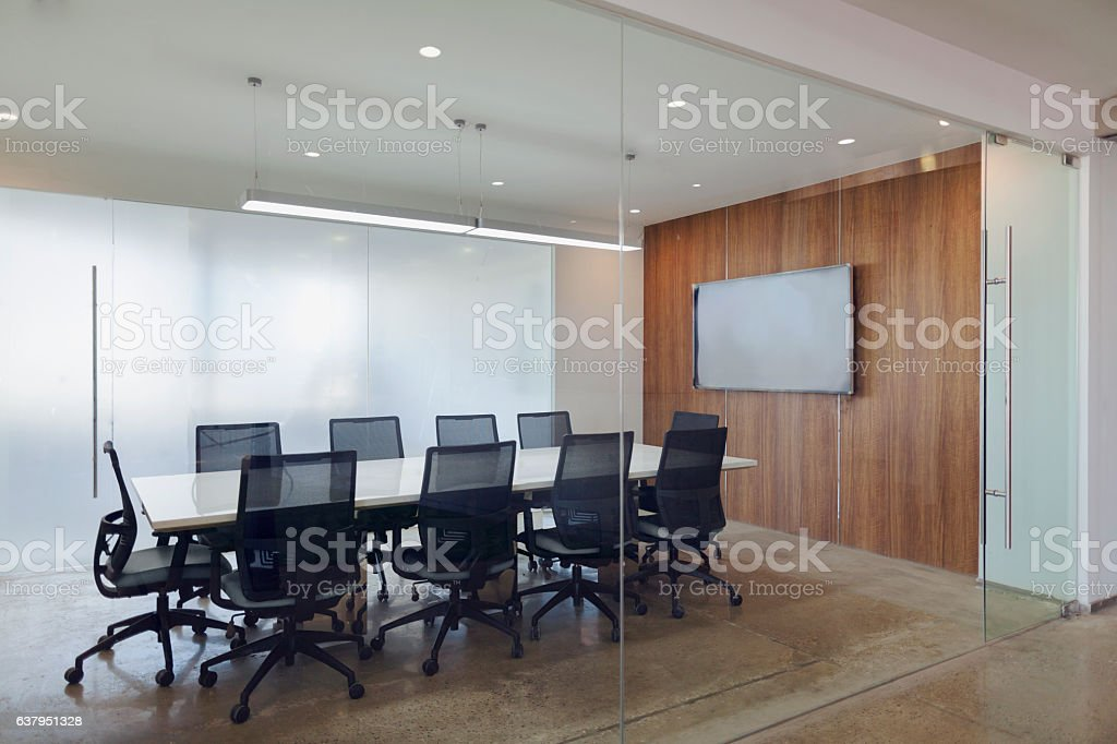 View of business conference room in modern office stock photo