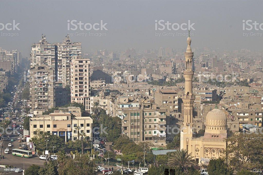 View of Cairo street stock photo