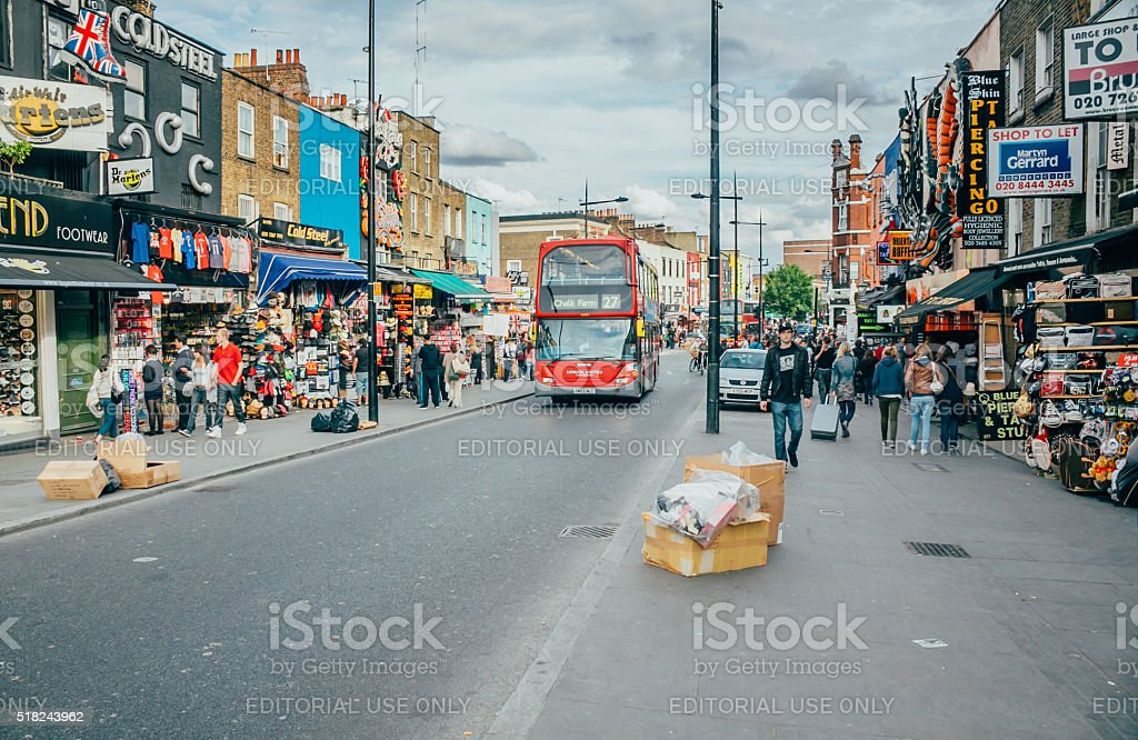 View of Camden Market, famous tourist attractions stock photo