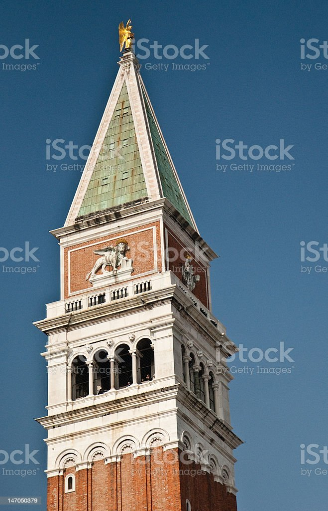 View of Campanille from San Marco. stock photo