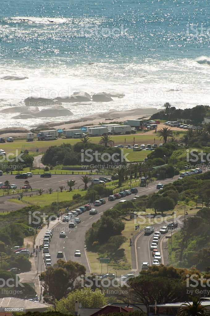 View of Camps Bay stock photo