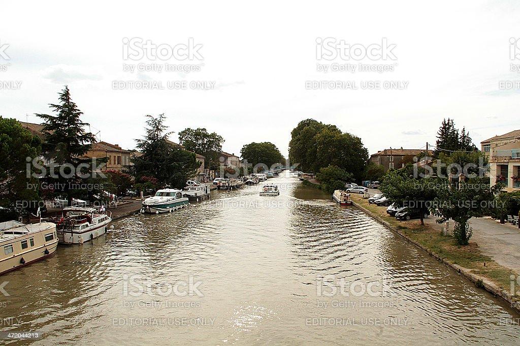 Vista del canale Di Midi, Béziers, Francia foto stock royalty-free