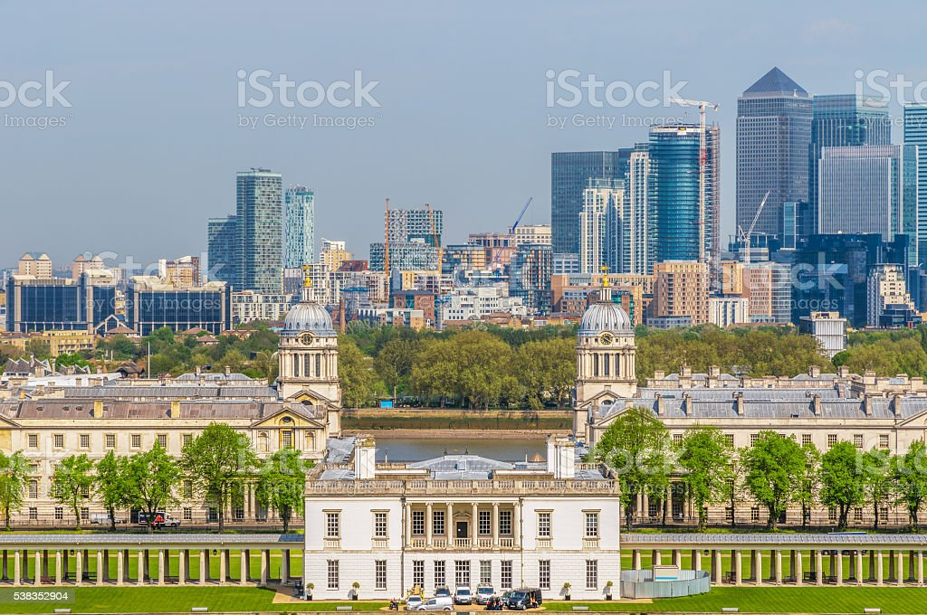 View of Canary Wharf stock photo
