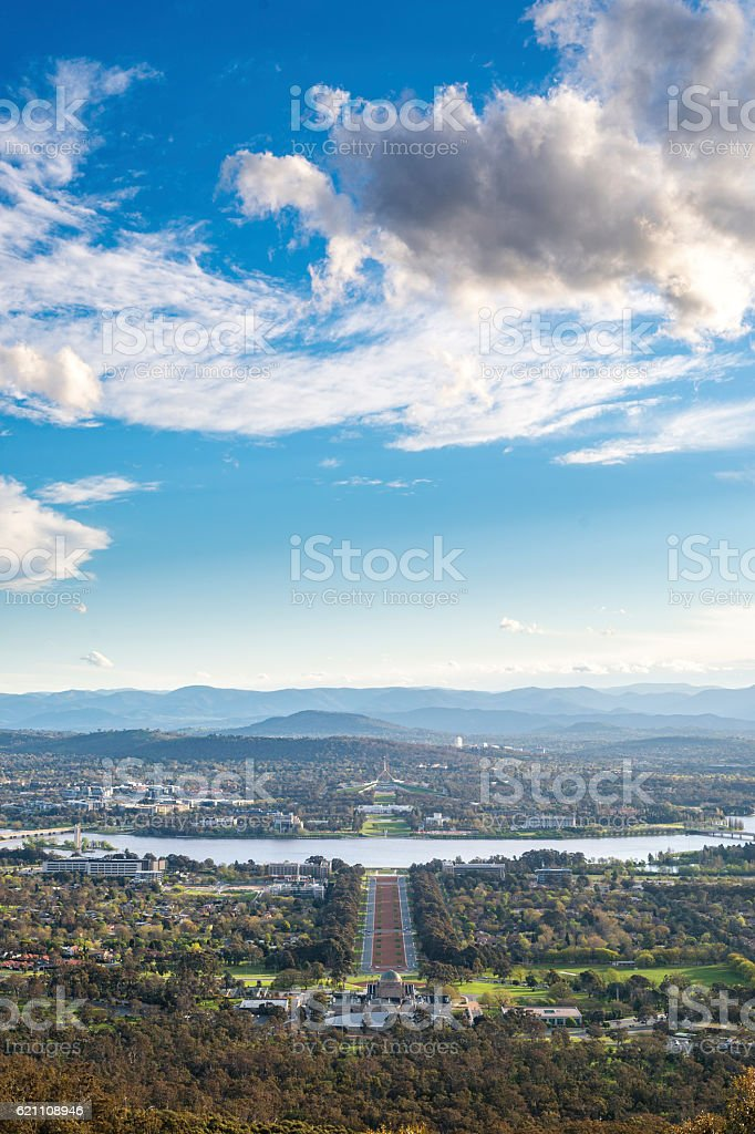 View of Canberra city stock photo