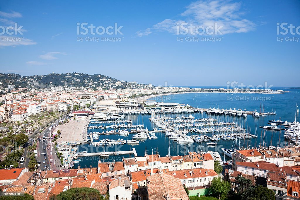 view of Cannes stock photo