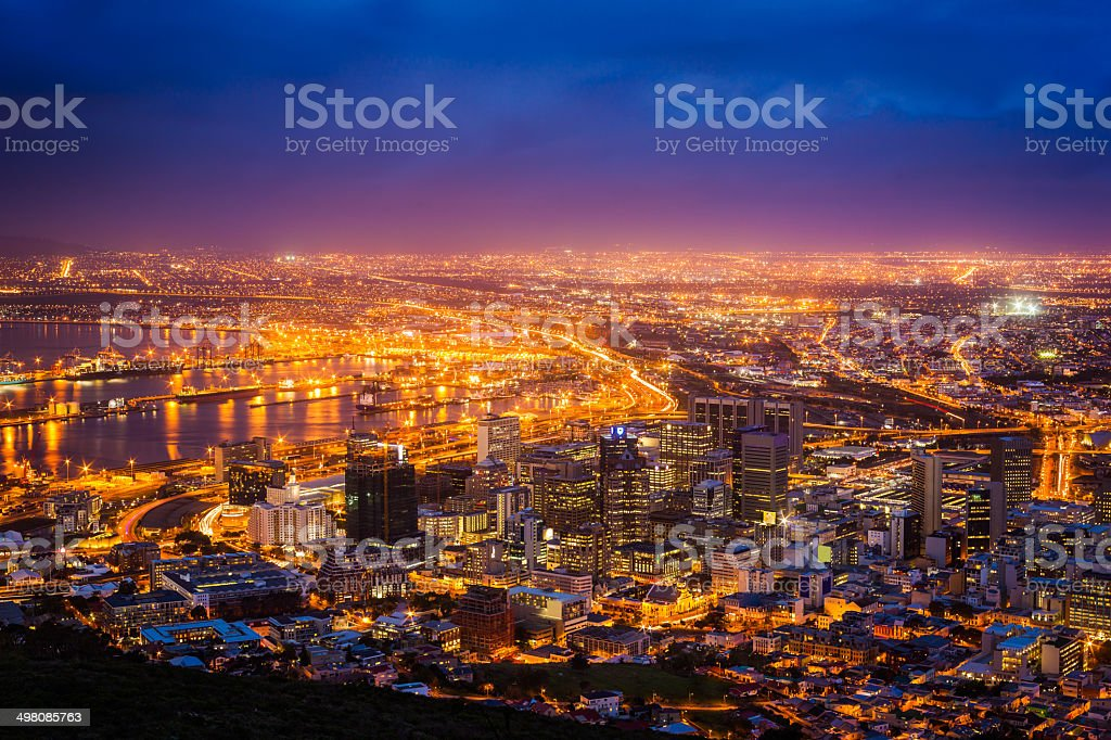 View of Cape Town stock photo