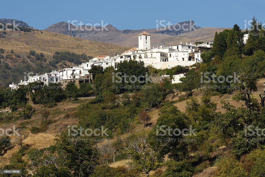 view of Capileira village in Alpujarras stock photo