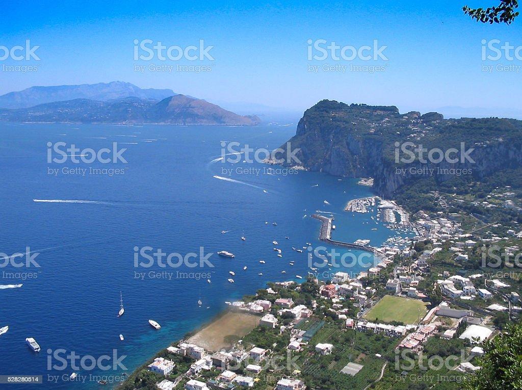 view of capri, napoli stock photo