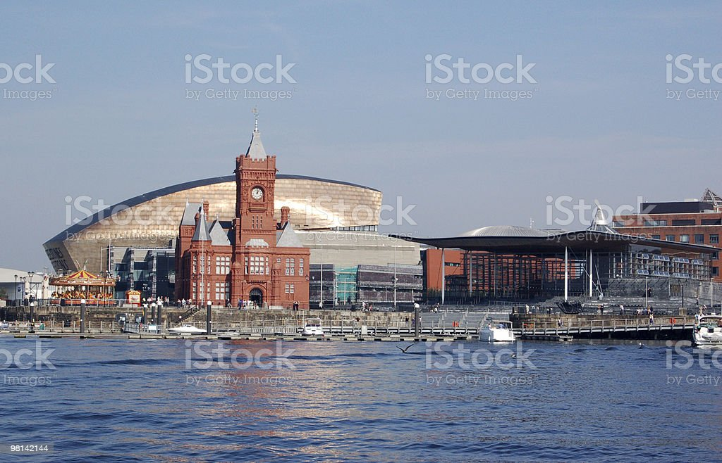 View of Cardiff Bay royalty-free stock photo