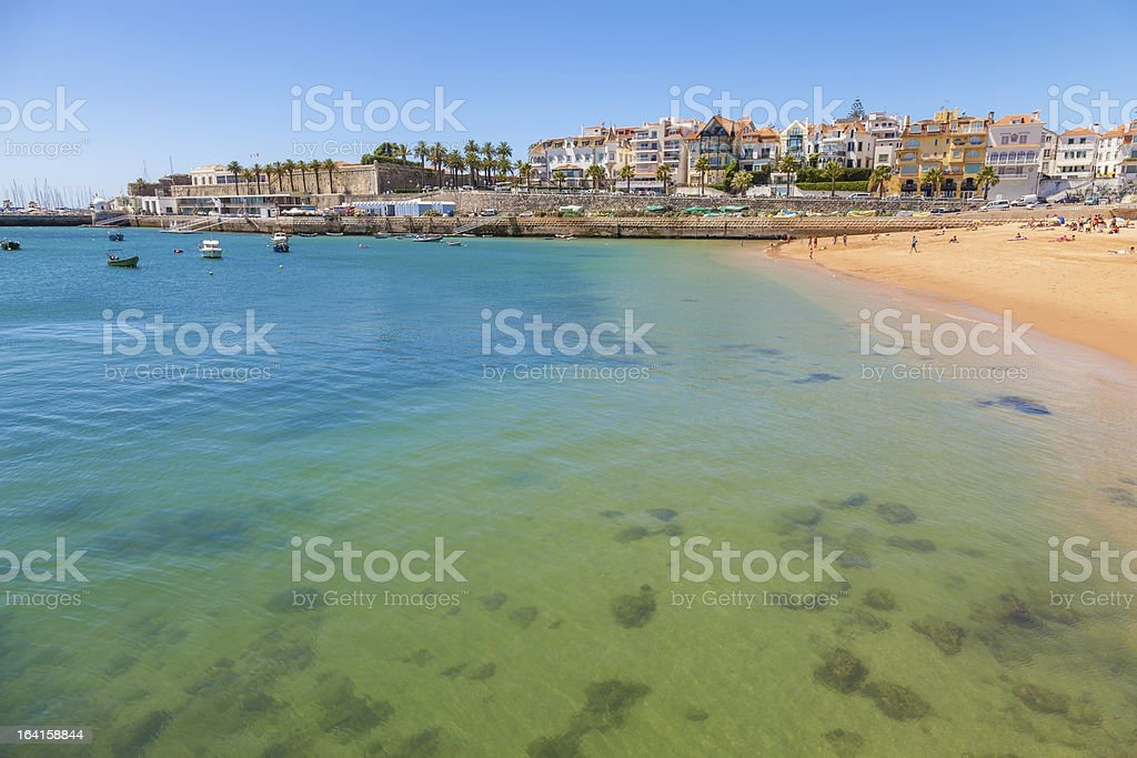 A view of Cascais in the summer stock photo