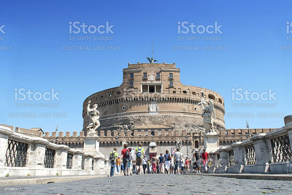 View of Castel Sant'Angelo royalty-free stock photo