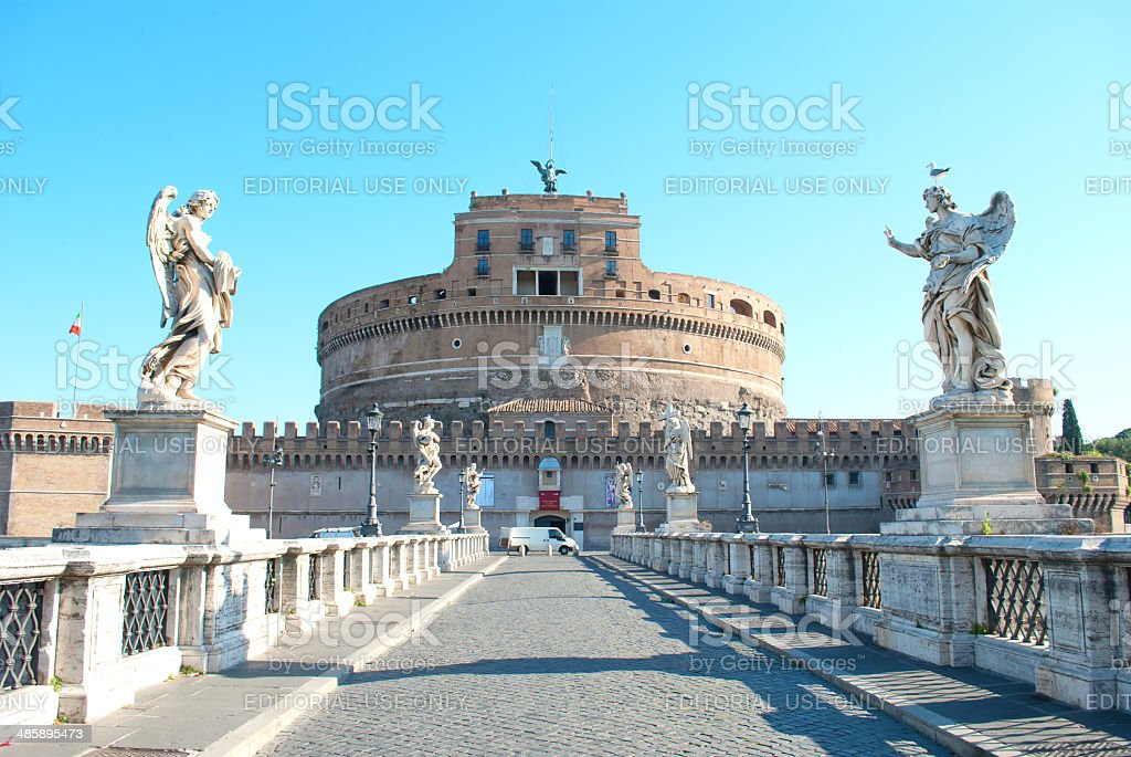 View of Castel Sant'Angelo stock photo