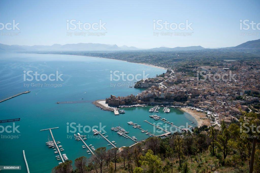 View of Castellammare del Golfo stock photo