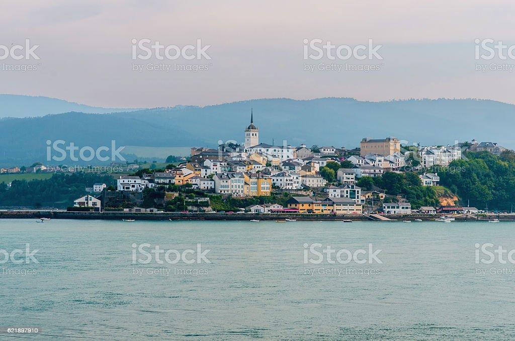 view of Castropol Asturias stock photo