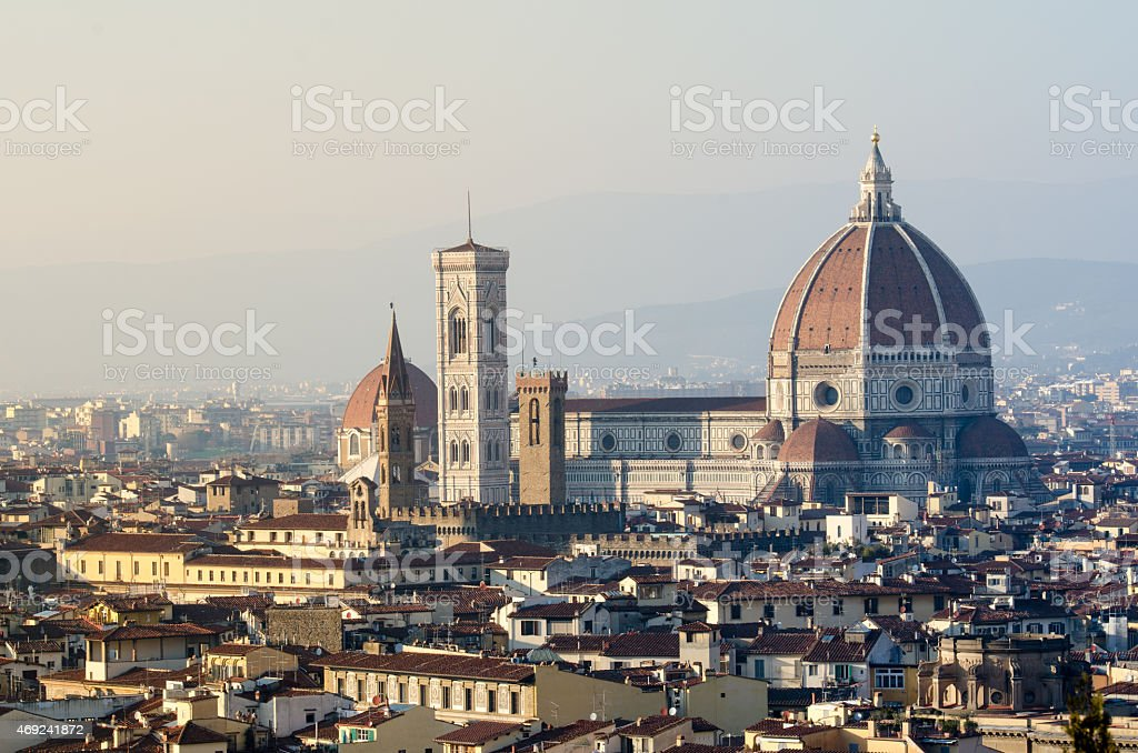 View of Cathedral of Florence stock photo