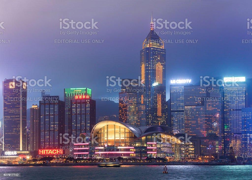 View of central Hong Kong island stock photo