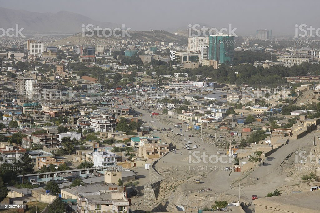 View of central Kabul, Afghanistan stock photo